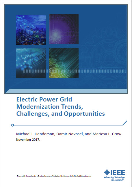 Cover of white paper Electric Power Grid Modernization