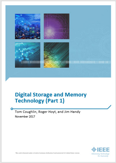 Colorful abstract of digital storage
