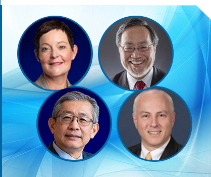 The IEEE President & CEO, Past President, President-Elect, and Executive Director & COO