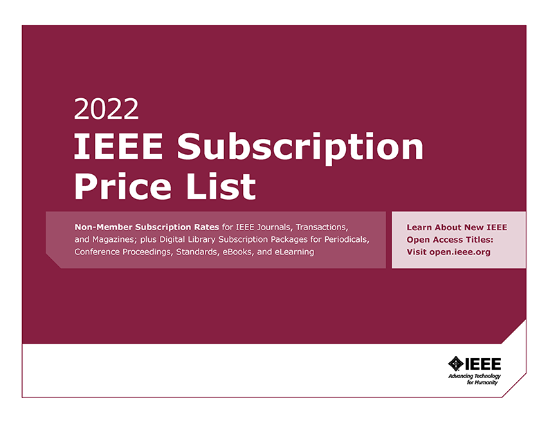2019 IEEE Subscription Price List