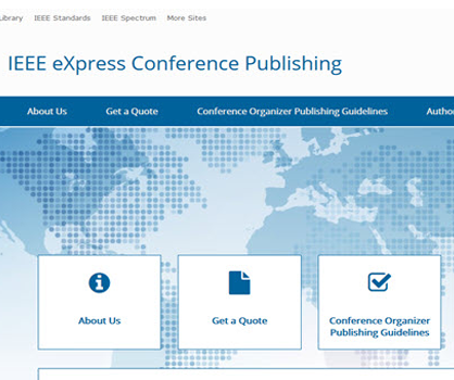 IEEE eXpress Conference Publishing (eCP) website screen shot